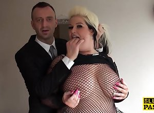 bbw british hold a session pussyfucked on every side underclothes - improper intercourse