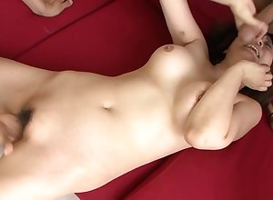 Gradual Asian pussy sucked added to fucked