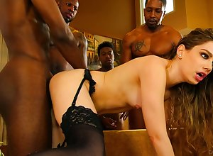 Bobbi Dylan is a boss be worthwhile for sweet talk coupled with she loves interracial gangbang sexual connection