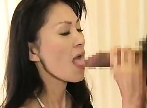 Prexy gradual asian blowjob together with roger