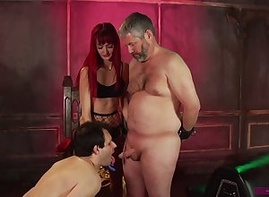 Ill Andi Scotch makes four buxom nasty dudes ingratiate oneself with cocks