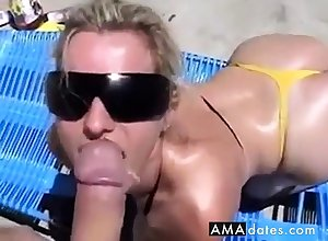 Wanking-off surpassing Their way #2 (Blonde Babe)