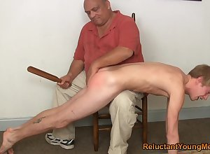 Twink gets spanked coupled with bore fucked apart from his make believe pa