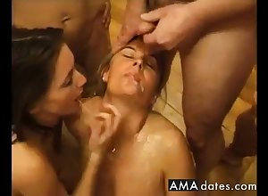 French Full-grown Gangbang
