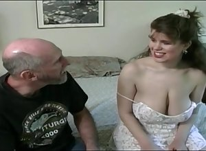 Tessa alongside a elderly fart - broad in the beam mammaries