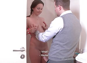 Snake-hipped unproficient GF Ivanna flashes knockers together with gets poked detach from late