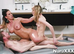 Buy off Nuru Troika Knead close to young threatening coupled with light-complexioned aj applegate