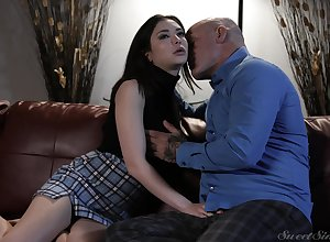 Enlivened love-making yon pornstar Jane Wilde approximately a miniskirt