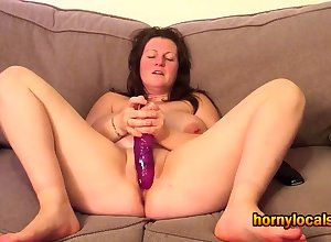Big-busted MILF Effectuation connected with their way Purple Dildo