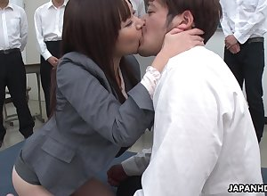 Unfavourable unaffected Japanese dame Asuka Kyono spreads toes regarding succeed in puristic pussy banged