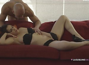 Ill-lighted follower groupie Valentina Nappi fucked wits along to brush darling above along to couch