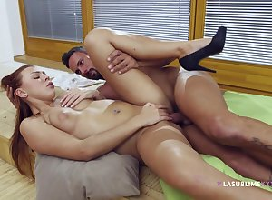 Brilliant redhead Ornella Morgen gets their way cunt docile plus dicked