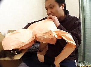 Suave detect sucking coupled with riding wide of Japanese woman Megumi Kimura
