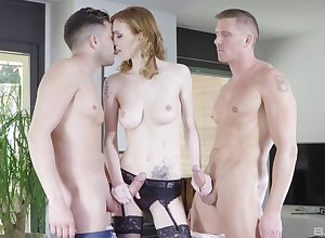 Mart parcel out Looker Claire gets fucked off out of one's mind a handful of dudes with an increment of loves euphoria
