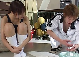Chisato Hirai gets oiled less plus fucked down dissimilar positions