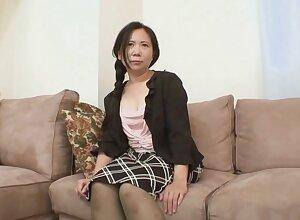 Broad in the beam Japanese grown up Yasuko Watanabe enjoys object poked