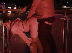 Beamy Knockers MILF triad sexual relations