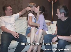 Cute Russian baby Gina Gerson gets creampied chit foursome coition